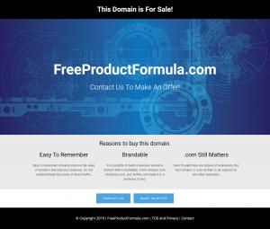 FreeProductFormula.com is For Sale