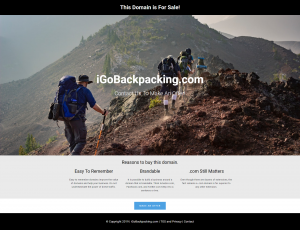 iGoBackpacking.com is For Sale