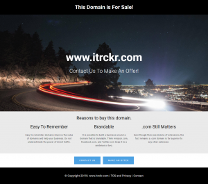 iTrckr.com is For Sale